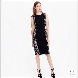 🎁SALE🎁 J. Crew Black Tall Lace Panel Dress